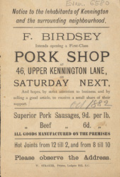 Advert For F. Birdsey